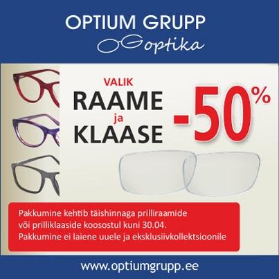 Värske hinnasula Optium Grupp Optikas! - Optium Optika