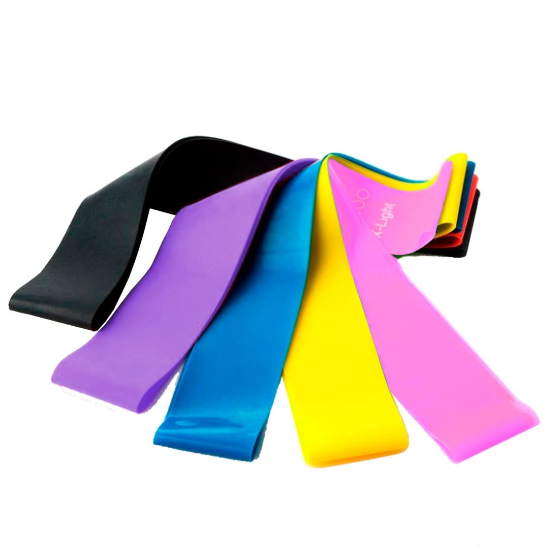 GESS Resistance band YOGA BAND FITNESS BAND, 5 PCS. INCLUDED, DIFFERENT WEIGHT TUP to 12 KG GESS FLEX SET - GESS