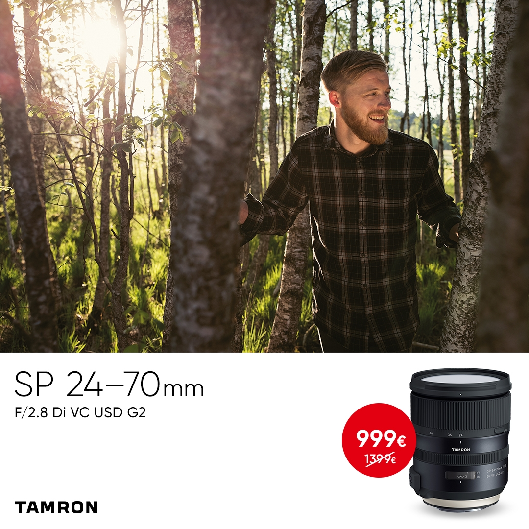 Tamron SP 24-70mm f/2.8 G2 on müügil enneolematu soodushinnaga - Photopoint