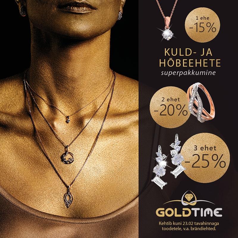 Kuld- ja hõbeehete superpakkumine! - Goldtime