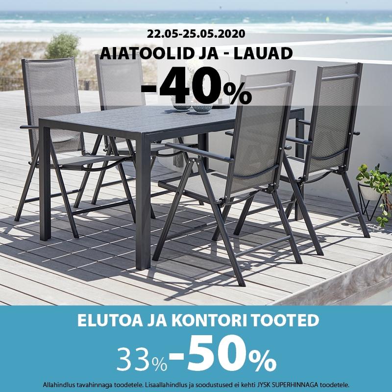 -40% JYSK aiatoolid ja -lauad! - Jysk
