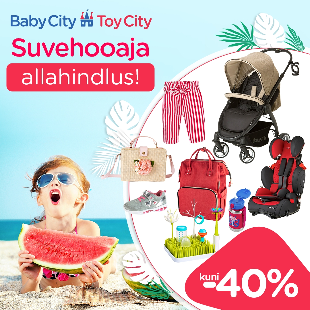 Suvine allahindlus kuni -40% - Babycity