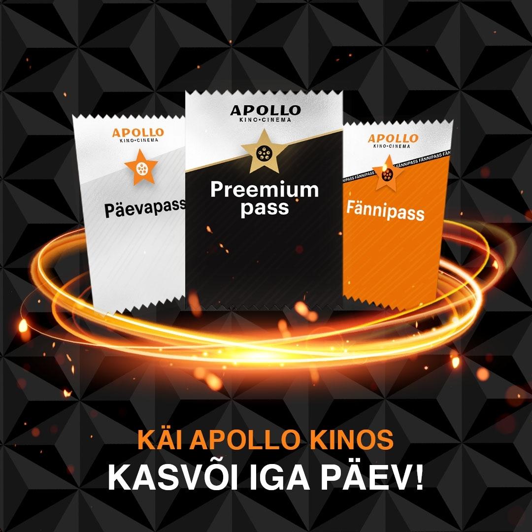 Apollo Kinopass - käi kinos kasvõi iga päev! - Apollo Kino