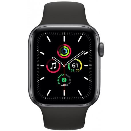 Apple Watch SE GPS 44mm Sport Band, space gray/black - Photopoint