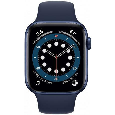 Apple Watch 6 GPS 44mm Sport Band, blue/deep navy - Photopoint