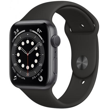 Apple Watch 6 GPS 44mm Sport Band, space gray/black - Photopoint