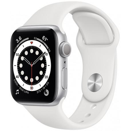 Apple Watch 6 GPS 40mm Sport Band, silver/white - Photopoint
