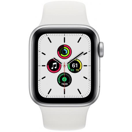 Apple Watch SE GPS 40mm Sport Band, silver/white - Photopoint