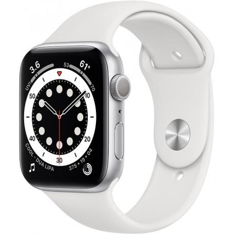 Apple Watch 6 GPS 44mm Sport Band, silver/white - Photopoint