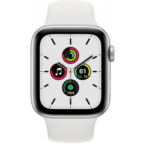 Apple Watch SE GPS 44mm Sport Band, silver/white - Photopoint