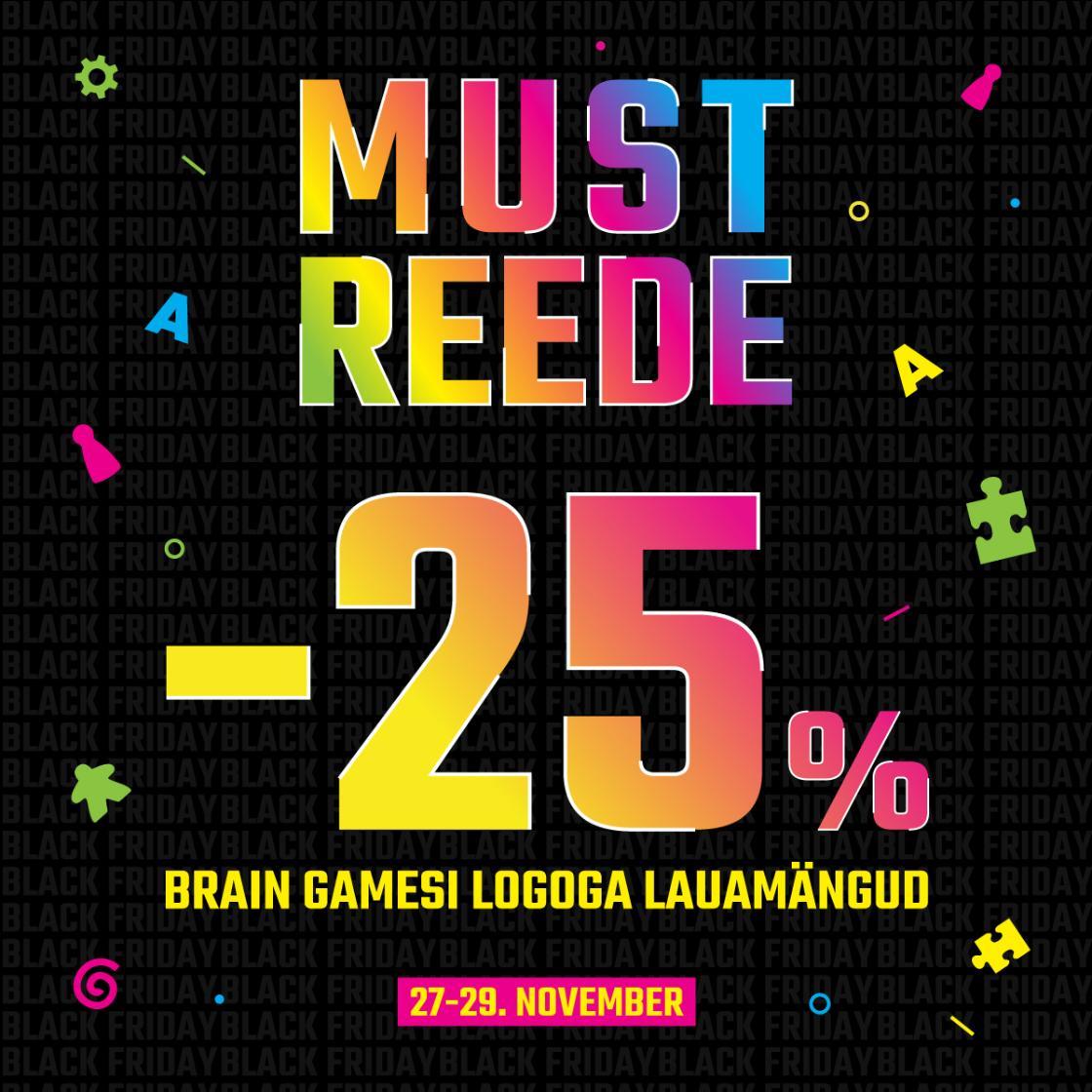 MUST REEDE! Brain Gamesi logoga lauamängud -25% - Brain Games