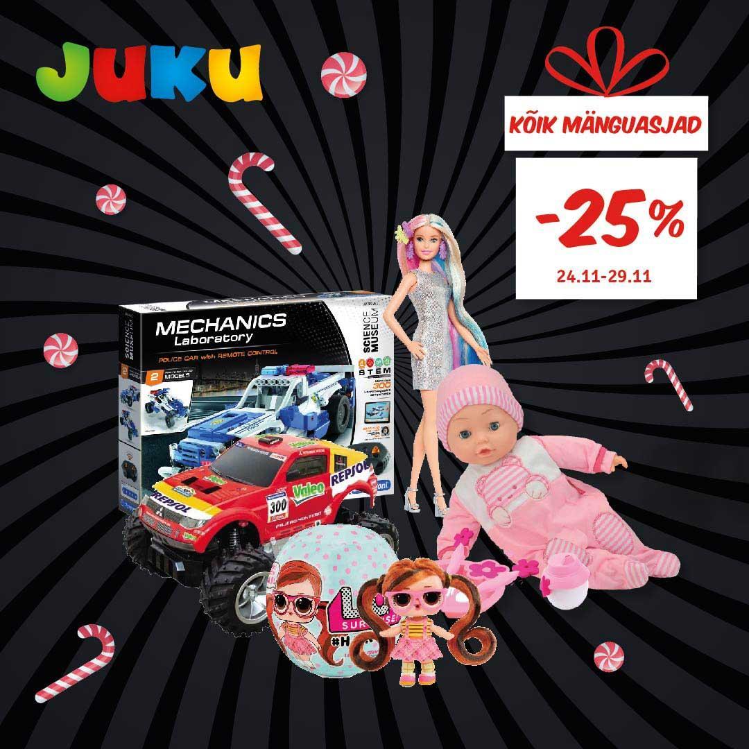 24.-29.11 kõik mänguasjad -25% - Juku Mänguasjakeskus