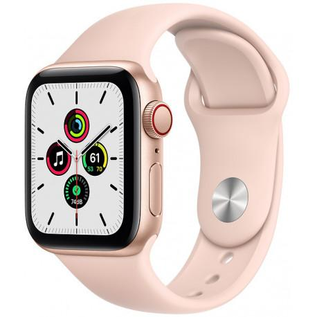 Apple Watch SE GPS + Cellular 40mm Sport Band, gold/pink sand (MYEH2EL/A) - Photopoint