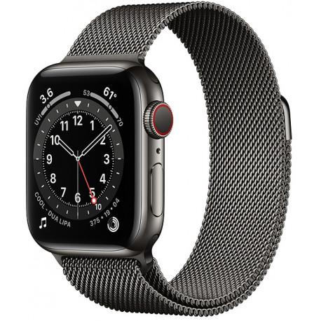 Apple Watch 6 GPS + Cellular 40mm Stainless Steel Milanese Loop, graphite (M06Y3EL/A) - Photopoint