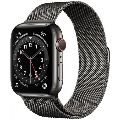 Apple Watch 6 GPS + Cellular 44mm Stainless Steel Milanese Loop, graphite (M09J3EL/A) - Photopoint