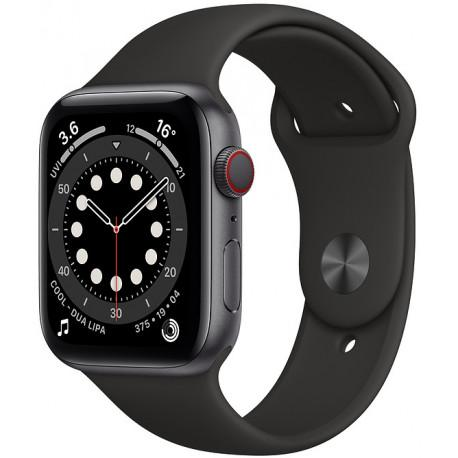 Apple Watch 6 GPS + Cellular 44mm Sport Band, space grey/black (MG2E3EL/A) - Photopoint