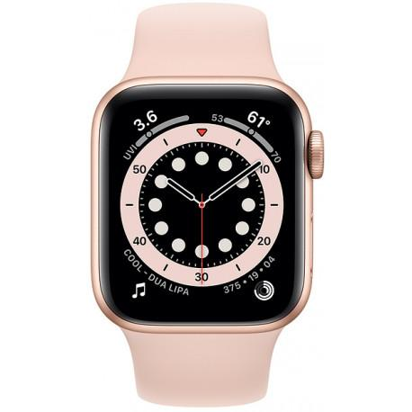 Apple Watch 6 GPS + Cellular 40mm Sport Band, gold/pink sand (M06N3EL/A) - Photopoint