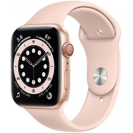Apple Watch 6 GPS + Cellular 44mm Sport Band, gold/pink sand (MG2D3EL/A) - Photopoint