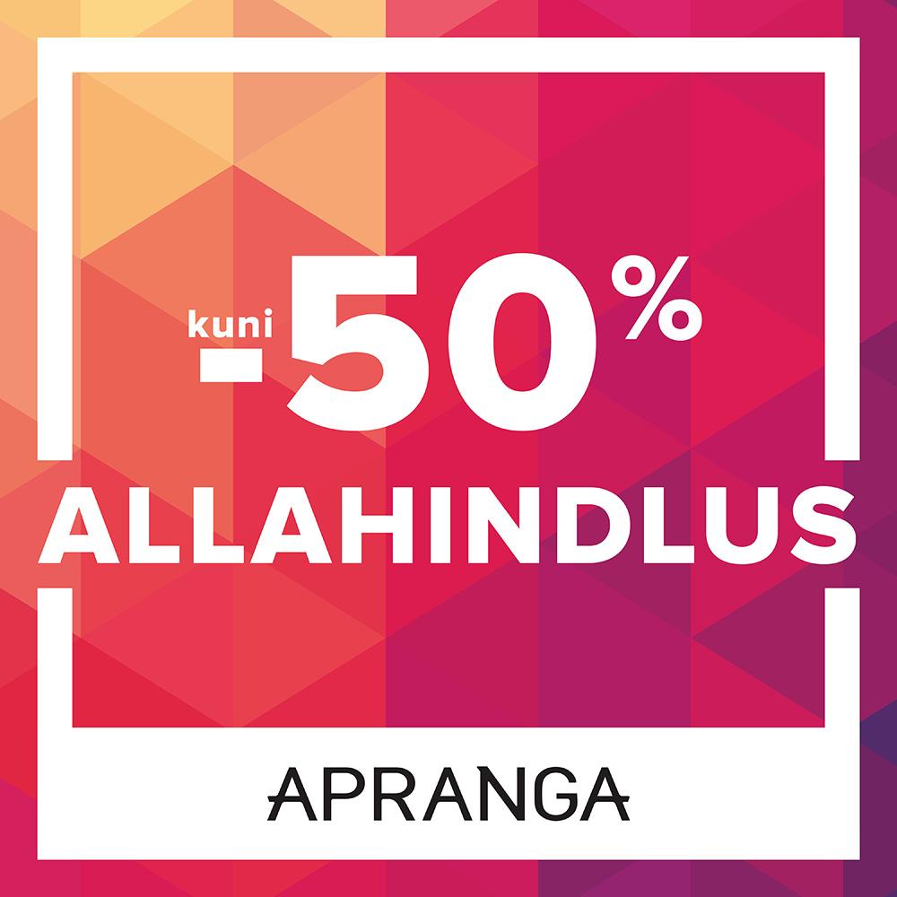 Allahindlus Aprangas kuni -50% - Apranga
