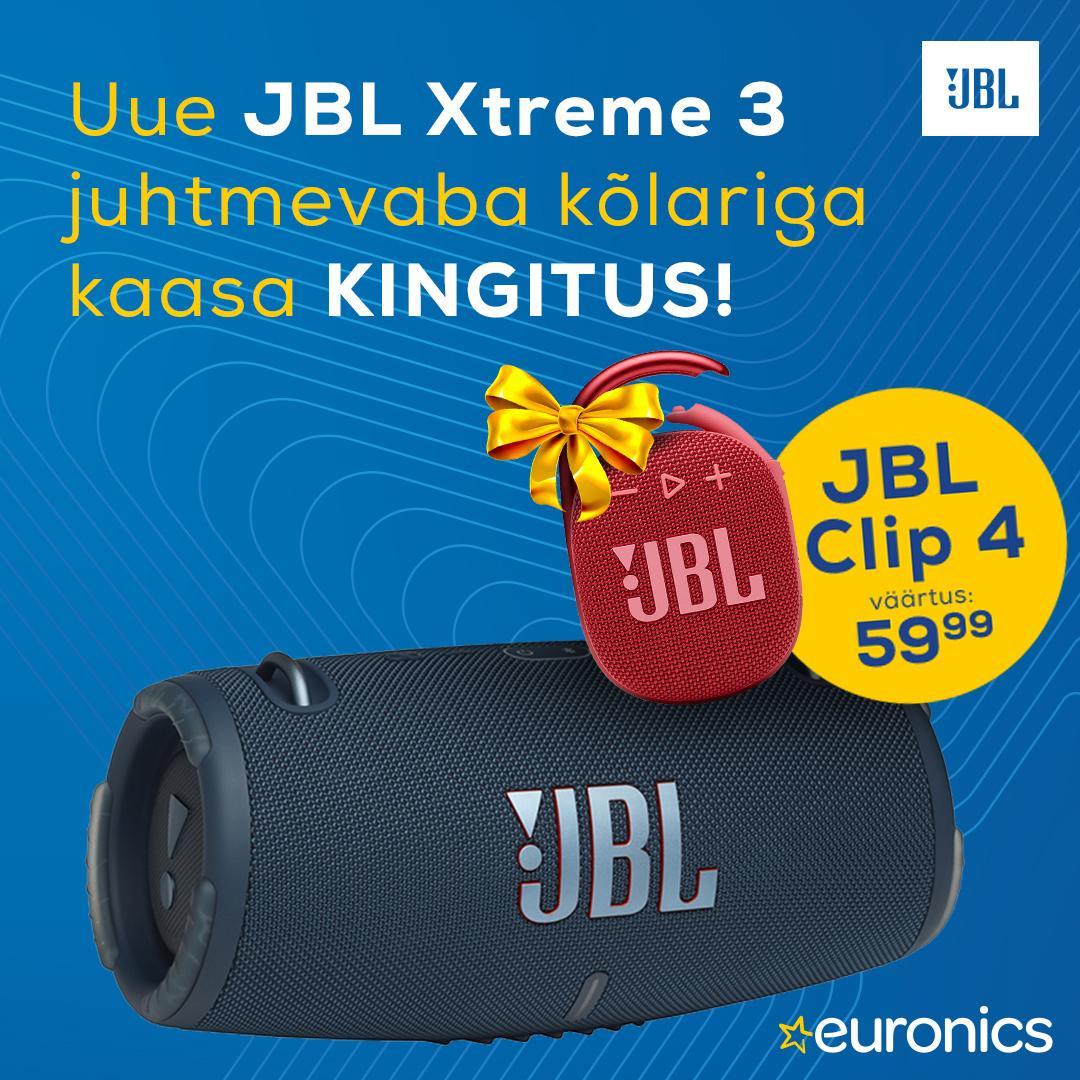 Uue JBL Xtreme 3 juhtmevaba kõlariga kaasa KINGITUS! - Euronics