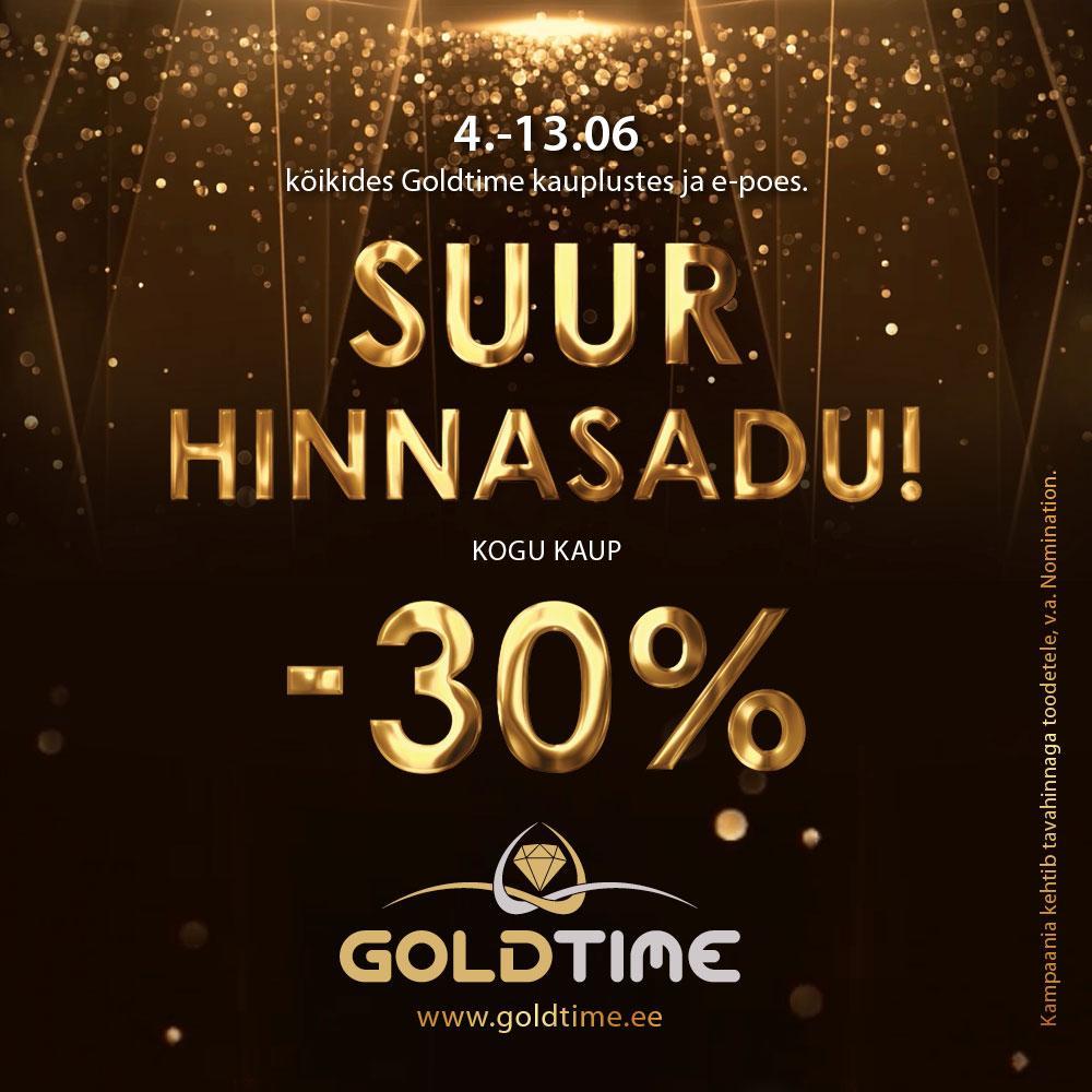 SUUR HINNASADU! Kogu kaup -30% - Goldtime