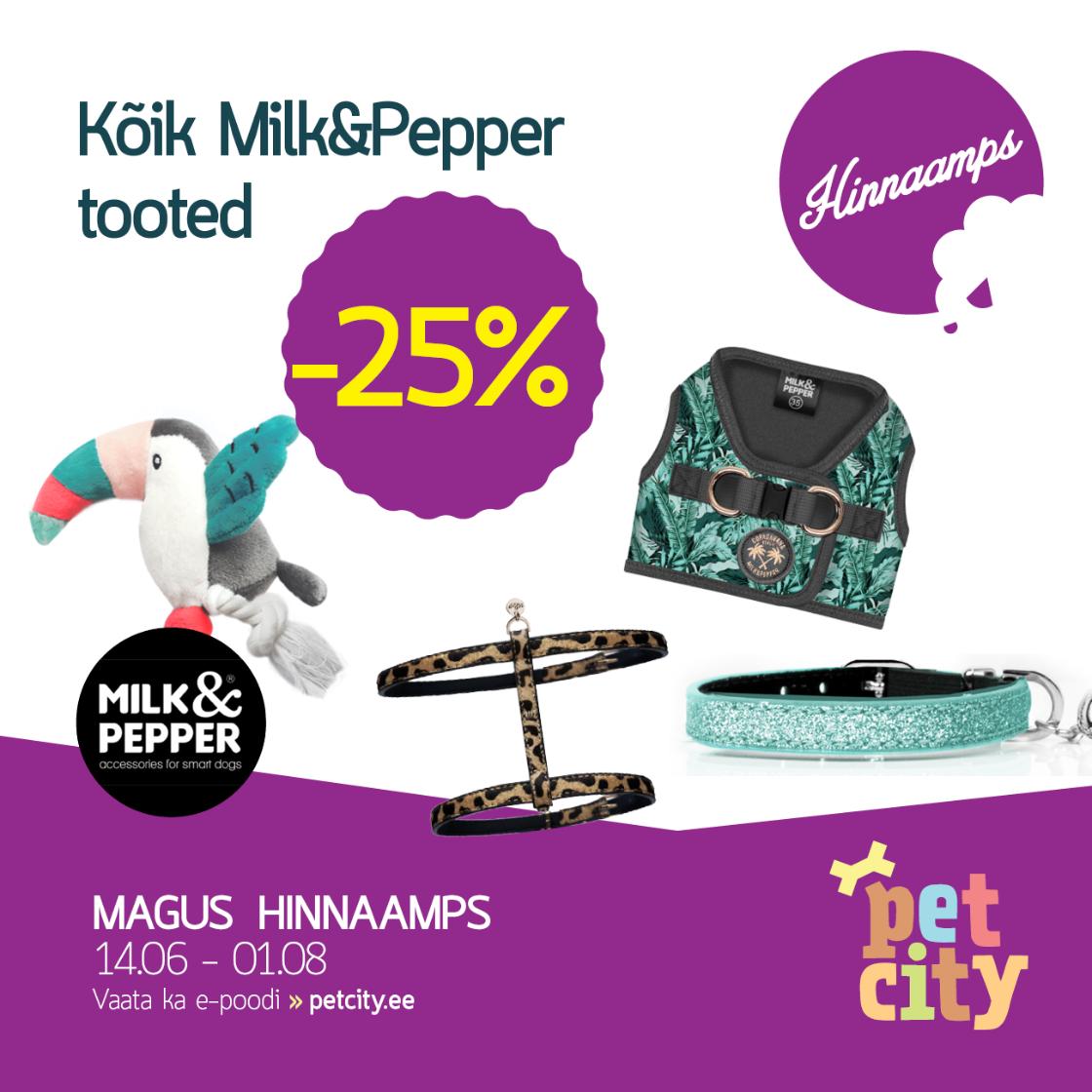 Kogu Milk&Pepperi tootevalik -25% - PetCity