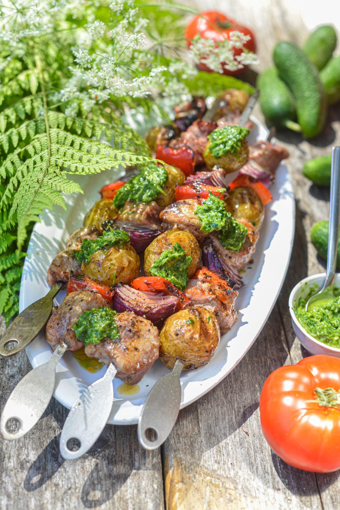 Seafilee ja värske kartuli vardad ürdikastmega