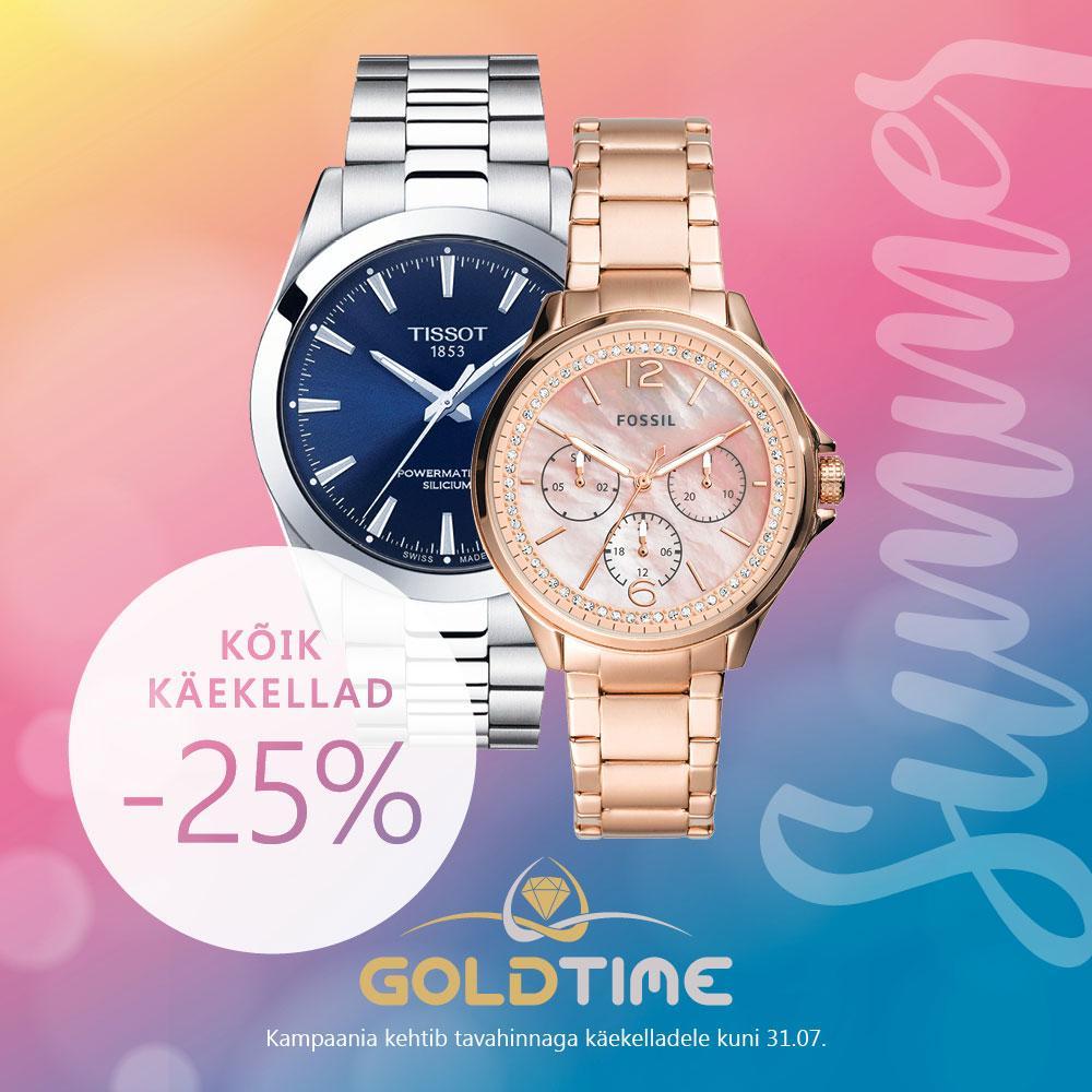 Kõik käekellad -25% - Goldtime