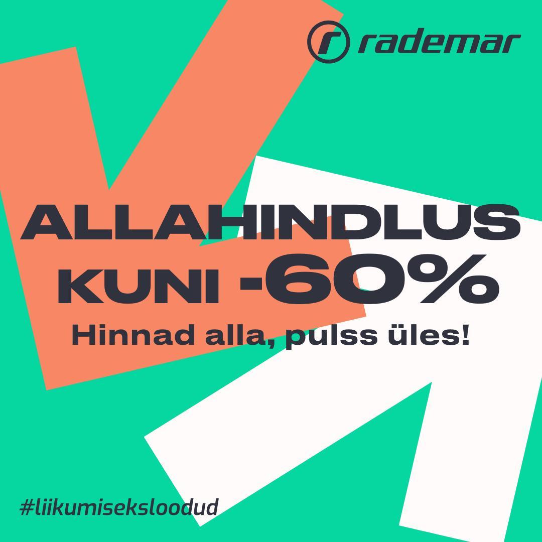 Allahindlus kuni -60% - Rademar