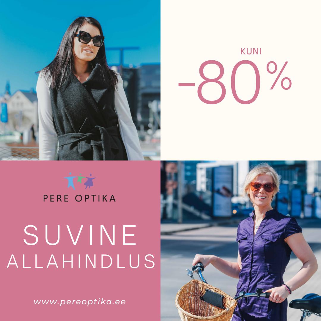 Kõik prilliraamid ja päikeseprillid kuni 80% soodsamad! - Pere Optika