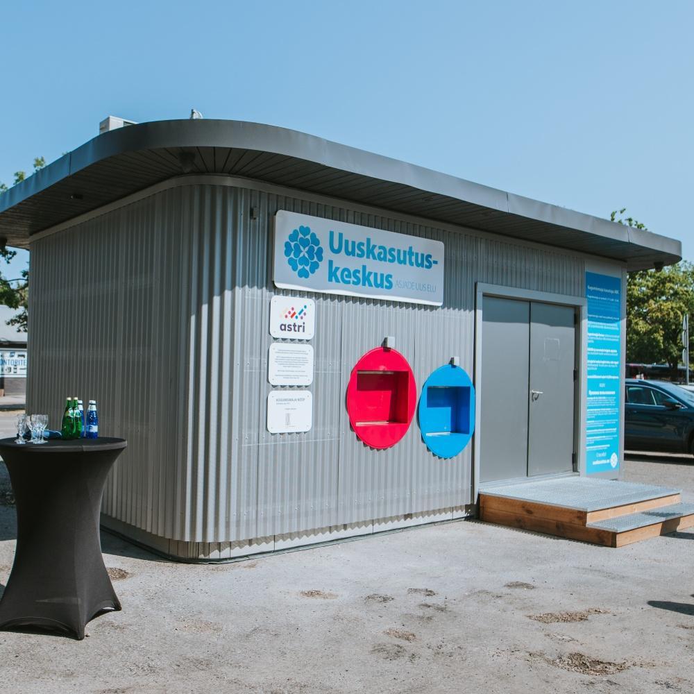 Uuskasutuskeskuse kogumismaja nüüd avatud