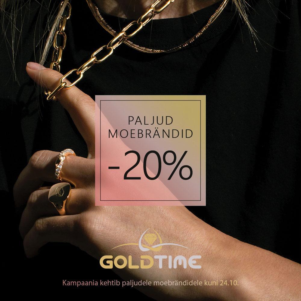 Paljud moebrändid -20% - Goldtime