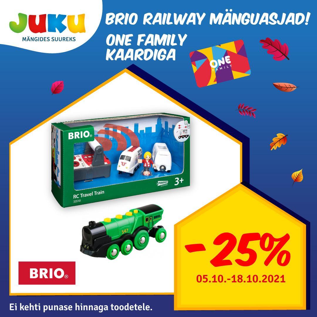 Brio Railway mänguasjad One Family kaardiga -25%! - Juku Mänguasjakeskus